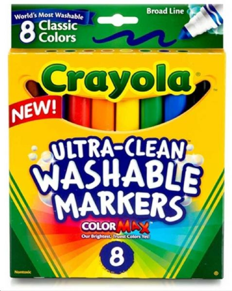 Crayola 8 Asst Ultra Clean Washable Markers
